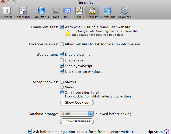 How to enable javascript on mac os x my blog in order to save the settings simply close the preferences window in this way you can enable javascript on your mac os x ccuart Choice Image