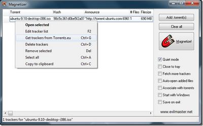 Create Torrent Magnet Links With uTorrent & Magnetizer | My Blog