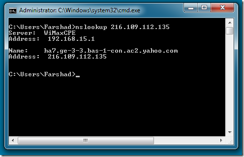 how to find domain name using command prompt